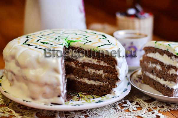 Домашний черемуховый торт со сметанным кремом