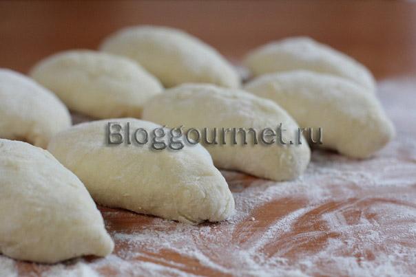 Тесто для пирожков (на твороге и кефире) 08