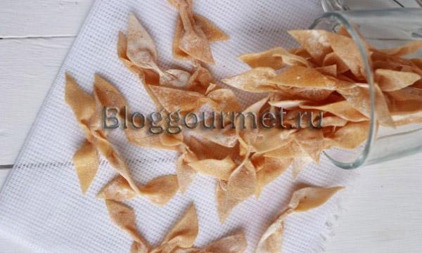 Рецепт домашней пасты фарфале - бантиков