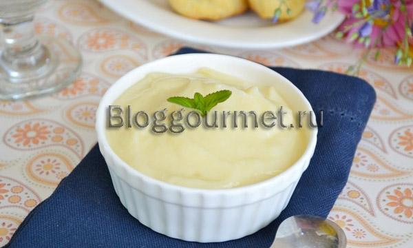 Заварной крем классический: пошаговый рецепт с фото