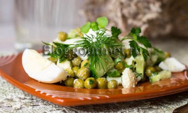 салат с горошком рецепт