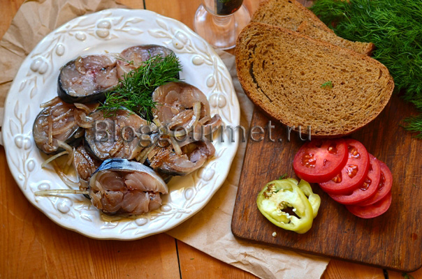 Вкусная маринованная скумбрия