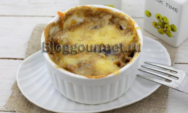 Шампиньоны в духовке с сыром
