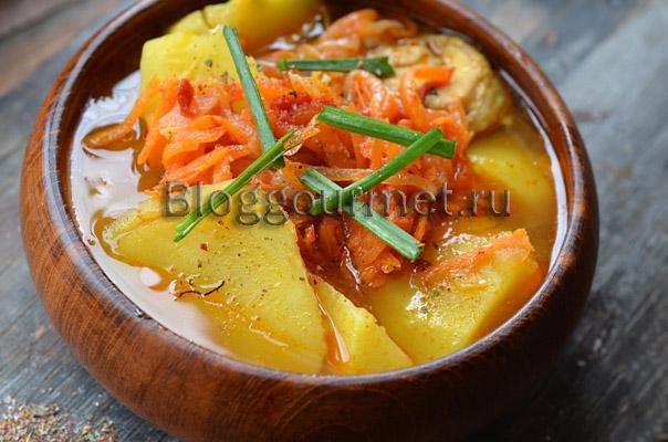Рецепт картофельного супа с крицей