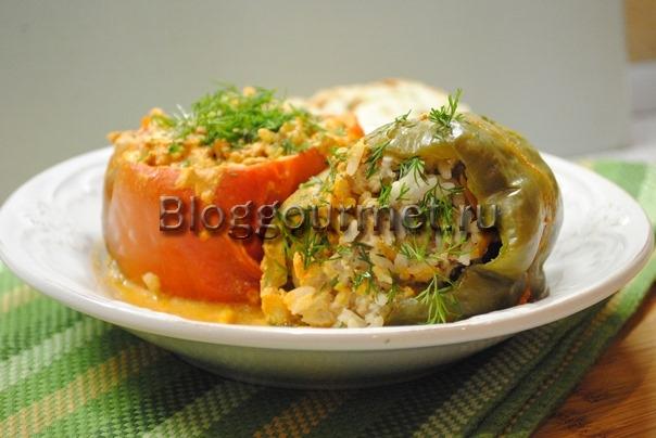 перец фаршированный мясом и рисом рецепт с фото