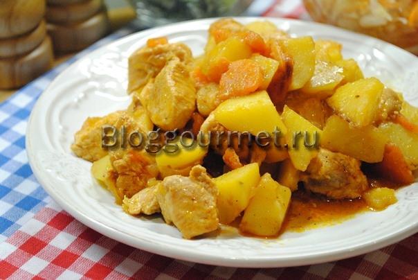 жаркое в горшочках с курицей и картошкой в духовке рецепт с фото