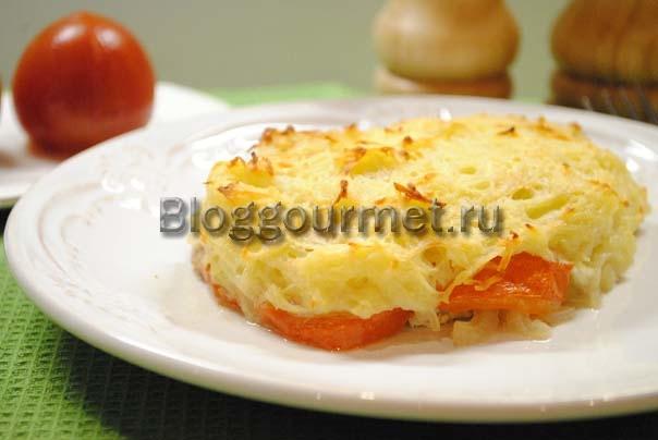 мясо под шубой в духовке рецепт с фото из свинины с картофелем