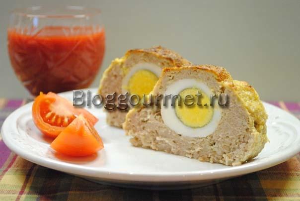мясной рулет из фарша с яйцом в духовке рецепт с фото