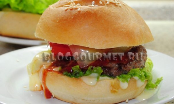 рецепт гамбургера