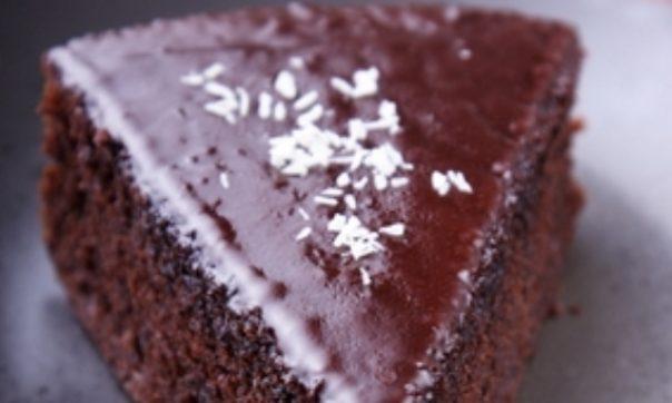 Шоколадно-миндальный торт