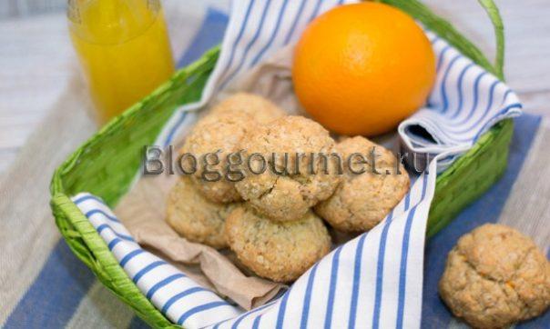 Овсяное печенье без яиц с апельсином