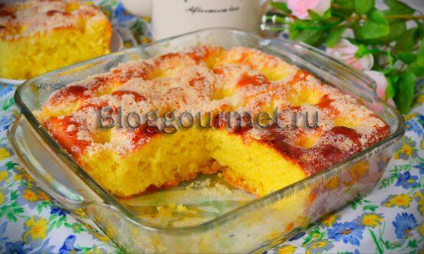 Домашний сахарный пирог