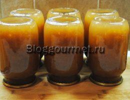 Сливовый сок с мякотью на зиму
