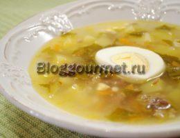 суп из щавеля с яйцом рецепт с фото